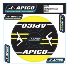 APICO TRIALS REAR SPROCKET STICKER 40T YELLOW